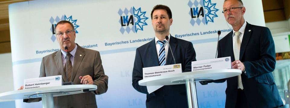 Robert Heimberger, Präsident Des Bayerischen Landeskriminalamtes, Thomas  Steinkraus Koch, Oberstaatsanwalt Der Staatsanwaltschaft