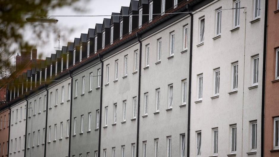Eine Wohnanlage im Münchner Stadtteil Schwabing