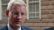 Der ehemalige schwedische Außenminister, Carl Bildt, 2011 bei einem Besuch in Sarajevo.