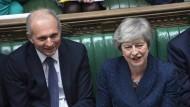 Seite an Seite im Unterhaus: Theresa May und ihr Stellverteter David Lidington.