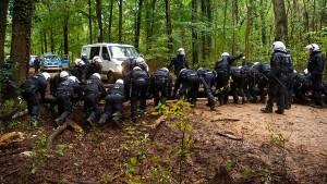 Polizei unterstützt Räumung