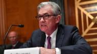 Fedchef Jerome Powell Mitte Juli bei einer Anhörung im Capitol