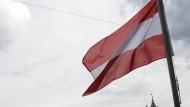 Eine österreichische Flagge