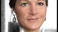 Außer Rouge komme nicht viel auf ihr Gesicht, so Sarah Wagenknecht.