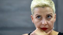 Kolesnikowa zeigt Geheimdienstmitarbeiter wegen Morddrohungen an