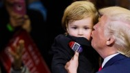 Trump geht mit Kleinkind in die Charmeoffensive