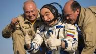 Drei ISS-Raumfahrer wohlbehalten wieder auf der Erde