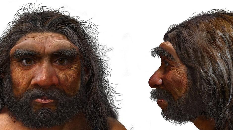 """Eine Illustration des """"Drachenmenschen"""" – vermutlich ein Vorfahre des homo sapiens"""