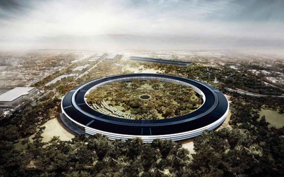 Naturüberwucherte Technikutopie: Entwurf der Konzernzentrale von Apple