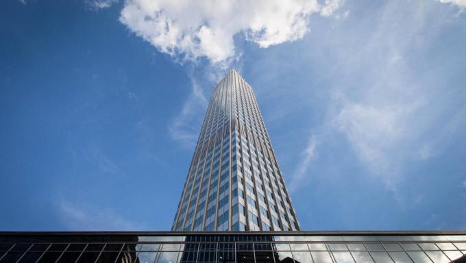 Kleine Oase im Bankenzentrum: Die Europäische Zentralbank