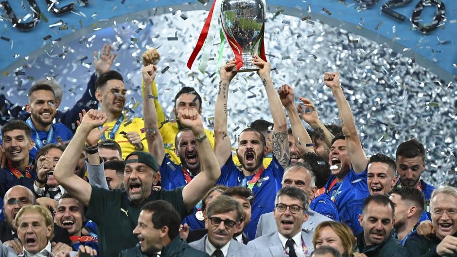 Europameister Italien: Mit den meisten Spielern unter der Elf des Turniers