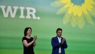Annalena Baerbock und Robert Habeck auf dem Leipziger Parteitag Ende 2018