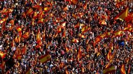 Massenprotest in Barcelona