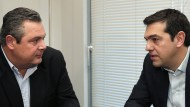 Ungleiche Partner: Tsipras (r.) und Kammenos