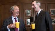 Jacob Rees-Mogg (rechts) im Mai 2016 mit dem damaligen Ukip-Chef Nigel Farage.