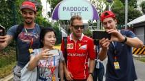 Eine Art Heimspiel: In Singapur hat Vettel vier von neun Rennen gewonnen.