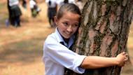 2001 Menschen umarmen Bäume