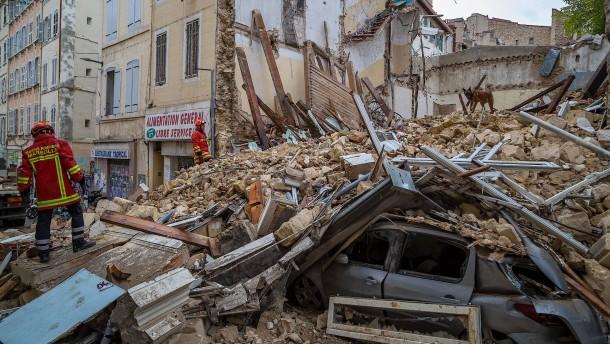Mindestens vier Tote nach Hauseinstürzen in Marseille