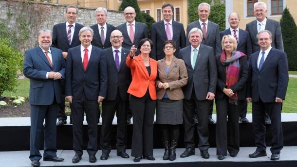 Ministerpraesidentenkonferenz auf Schloss Ettersburg