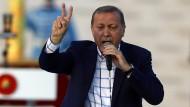 Der türkische Präsident, Recep Tayyip Erdogan