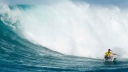 Surfen vor spektakulärer Kulisse