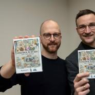 Die Spieleentwickler Michael Geithner und Martin Thiele-Schwez