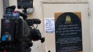 Treffpunkt radikalislamischer Tschetschenen: Der Eingang zur Fussilet-Moschee in Berlin-Moabit, die als Salafisten-Hochburg gilt.