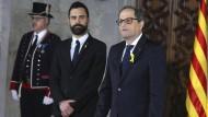 Der neue katalanische Regionalpräsident bei seiner Amtseinführung