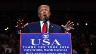 Donald Trump bei einer Rede in North Carolina