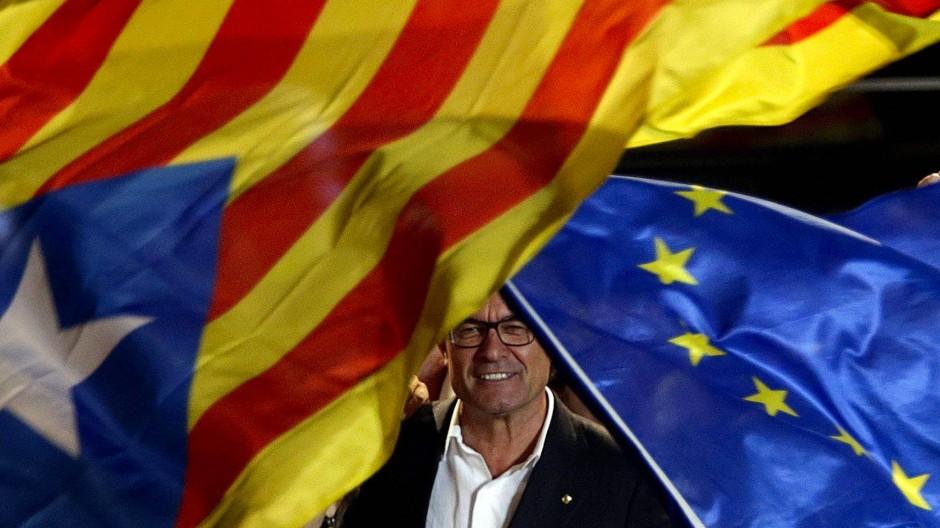 Ministerpräsident Artur Mas - der Sieger der Regionalwahl in Katalonien