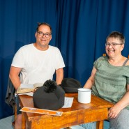 Das Theater im Wohnzimmer: Friederike und Oliver Nedelmann, Betreiber des Theater Nedelmann
