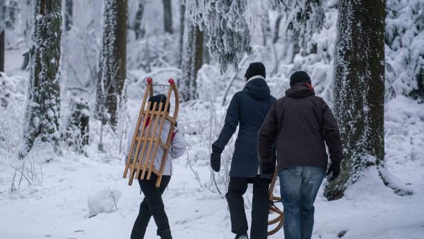 Hoffnung auf weiße Weihnacht im Taunus und der Rhön steigt