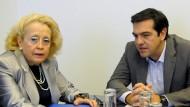 Gerichtspräsidentin führt Griechen an