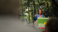 Sattelfest und angriffslustig: Umweltministerin Priska Hinz auf dem Landesparteitag von Bündnis 90/Die Grünen im vergangenen April