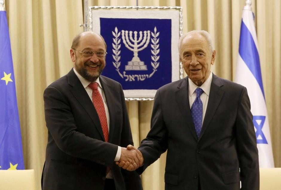 Schulz traf bei seinem Israel-Besuch auch mit Präsident Schimon Peres zusammen