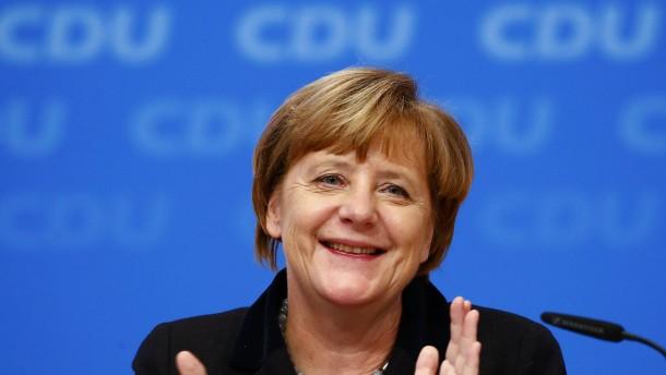 Alle hinter Merkel
