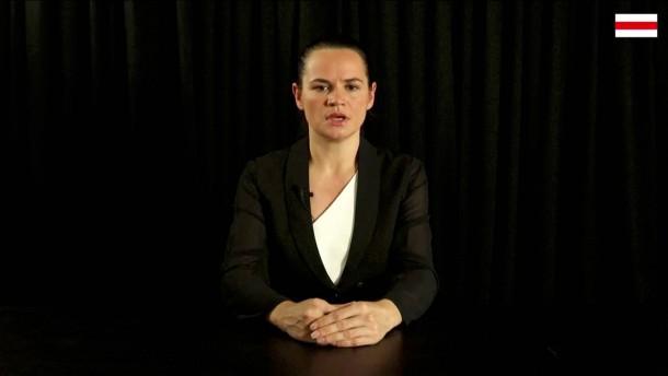 Tichanowskaja fordert von EU Nichtanerkennung des Wahlergebnisses