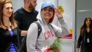 Die vor ihrer Familie geflohene Saudi-Araberin Rahaf Mohammed al-Kunun ist am Samstag in Kanada eingetroffen.