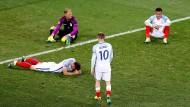 Geschlagen und niedergeschlagen: England nach dem Schlusspfiff