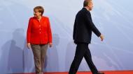 Bundeskanzlerin Angela Merkel und der türkische Präsident Recep Tayyip Erdogan beim G-20-Gipfel im Juli in Hamburg.