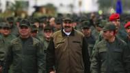 Der venezolanische Präsident Nicolás Maduro am Donnerstag im Militärdistrikt Fuerte Tiuna
