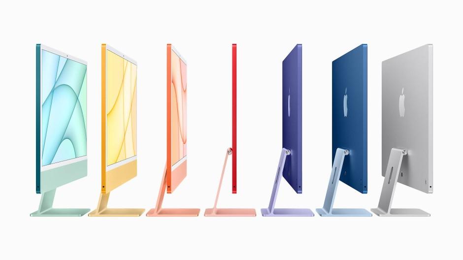 Neue Farben, schlanke Statur: Die gerade vorgestellten iMacs