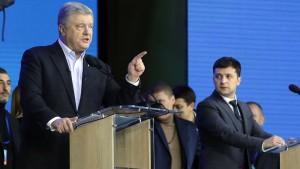 Hitzige Debatte im Olympiastadion von Kiew