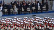 Französisch-amerikanische Militärparade in Paris