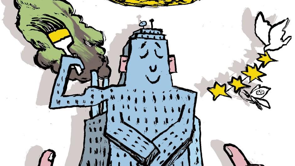 Der Ruf ist alles – eine Illustration von  Peter von Tresckow