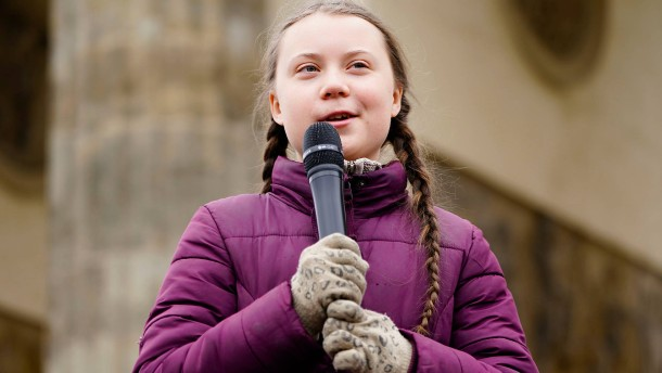 Greta Thunberg demonstriert in Berlin