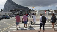 Felsen des Anstoßes: Am Grenzübergang nach Gibraltar nahe der spanischen Stadt La Linea