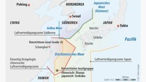 Infografik / Karte / Ostchinesisches Meer