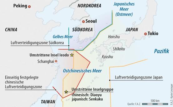 Die umstrittene Inselgruppe im Ostchinesischen Meer
