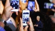 Apple-Chef Tim Cook bei der Präsentation des iPhone 7